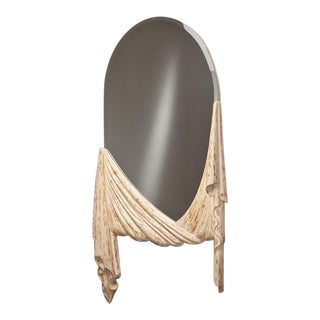 Neoclassical Inspired Draped Mirror by Chapman 1960s For Sale