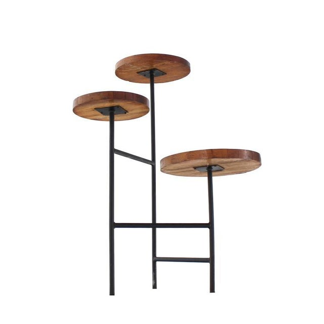 Tri Leg Three-Tier Side Display Table Planter For Sale In New York - Image 6 of 8