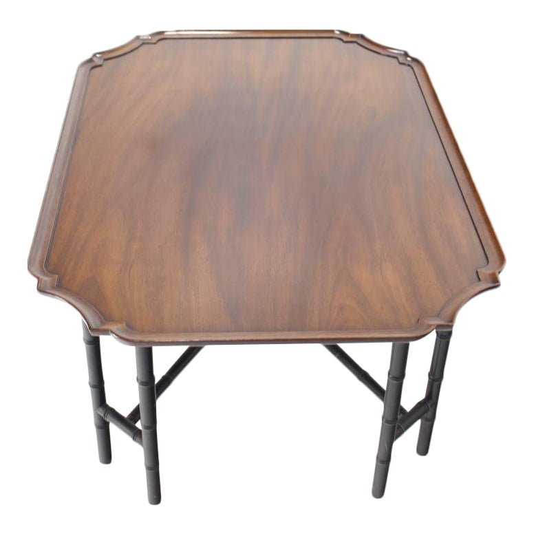 Exceptional Faux Bamboo Tray Top Rectangle Coffee Table By Kittinger Decaso