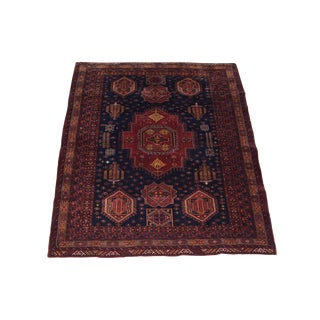 "Vintage Afghan Tribal Rug - 5'5"" x 6'4"" For Sale"