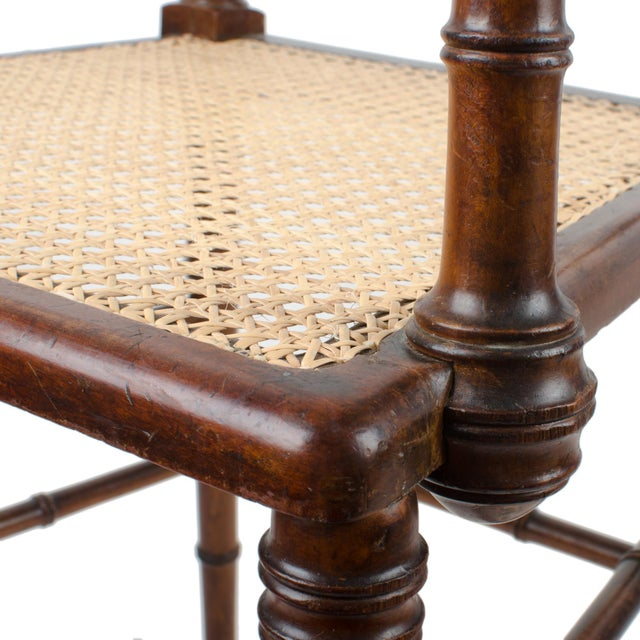 R.J. Horner & Co. Faux-Bamboo Armchair - Image 9 of 10