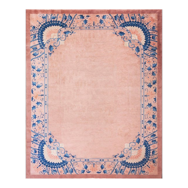 Chinese Art Deco Art Novena Style Rug-7′10″ × 9′10″ For Sale