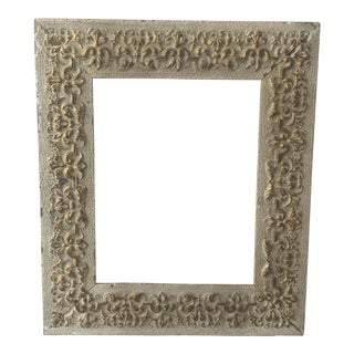 Vintage Gray & Gold Wood Frame