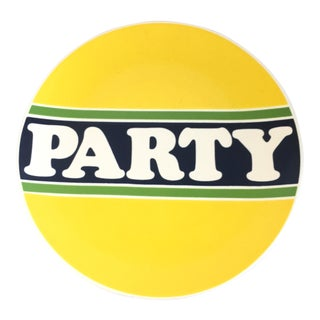 """Vintage Retro Bob Van Allen for Mikasa """"Party"""" Plate Platter For Sale"""