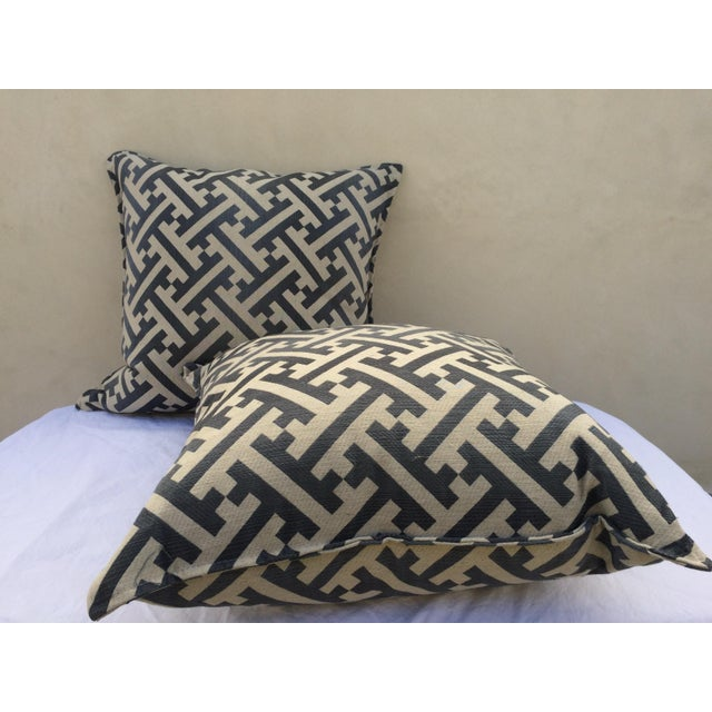Modern Contemporary Graphic Pattern Pillows - a Pair - Image 3 of 7