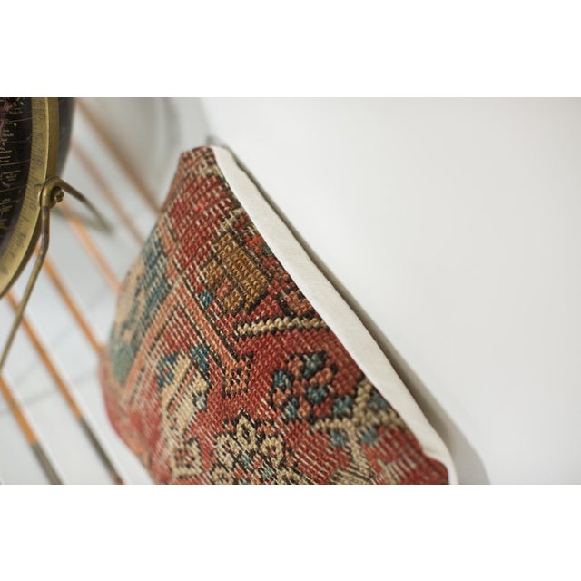 Antique Heriz Rug Fragment Pillow For Sale - Image 4 of 4
