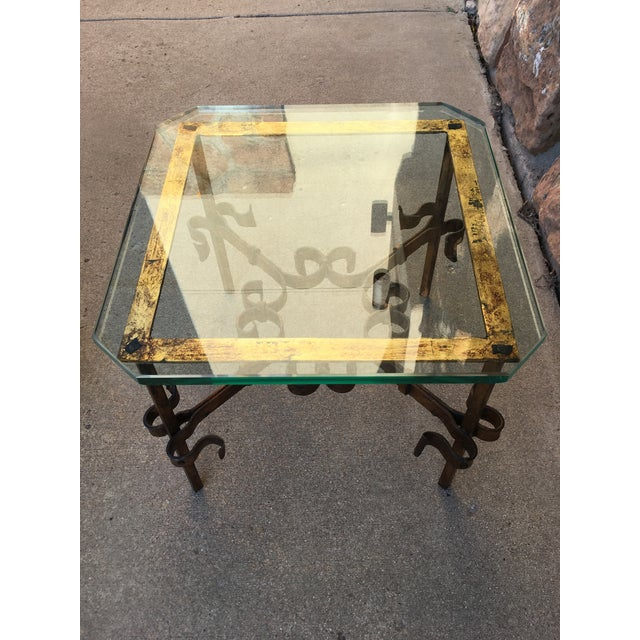 Red Spanish Gilt Iron Side Tables - Set of 2 For Sale - Image 8 of 13