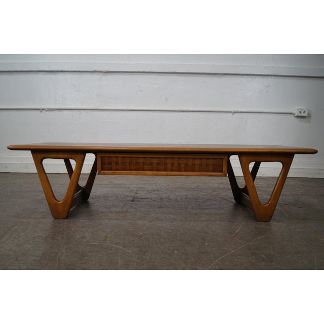 """Lane """"Perspective"""" Mid Century Modern Walnut V Base Coffee Table AGE/COUNTRY OF ORIGIN: Approx 50 years, America..."""