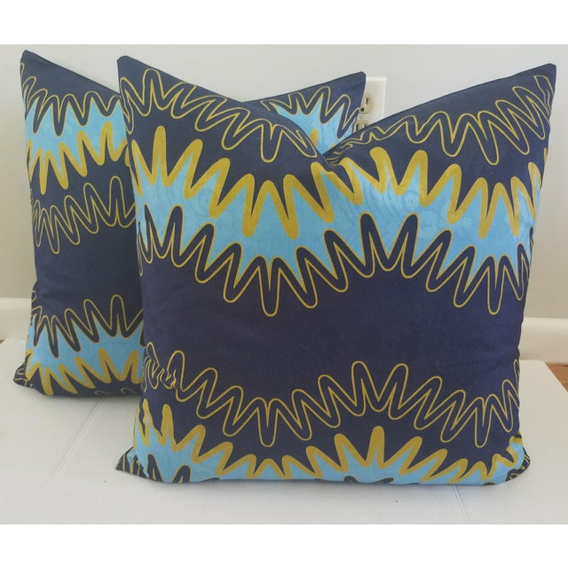"Modern ""Lightening"" Custom Pillows - a Pair For Sale - Image 4 of 4"