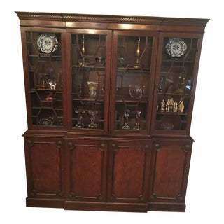 Traditional Wood China Cabinet For Sale