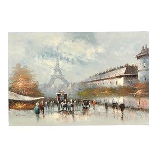 Paris City Street Original Oil Painting For Sale