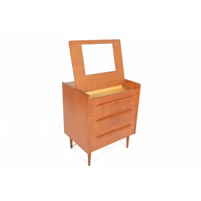 Danish Modern Teak Vanity Dresser - Image 5 of 10