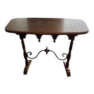 1930s Victorian Accent Console Table For Sale