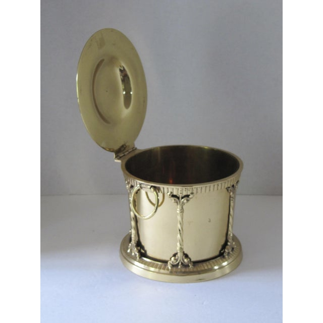 Brass Box With Attached Lid For Sale - Image 5 of 6