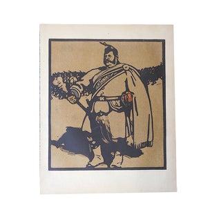 Antique Lithograph, London Types, Drum Major For Sale