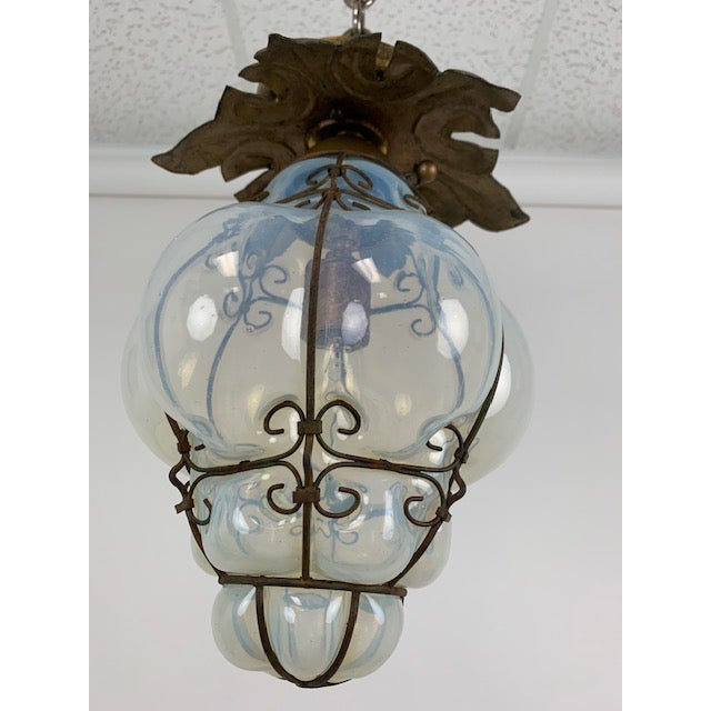 Smoked Glass Single Light Flush Mount Fixture For Sale - Image 4 of 9