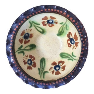 19th C. French Jaspe Hand-Painted Bowl