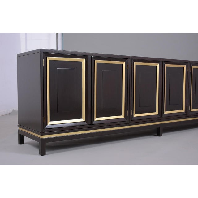 Black Mid-Century Modern Ebonized Credenza For Sale - Image 8 of 13