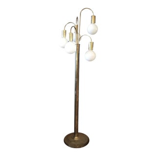 Vintage Brass Waterfall Floor Lamp by Robert Sonneman, 1950s