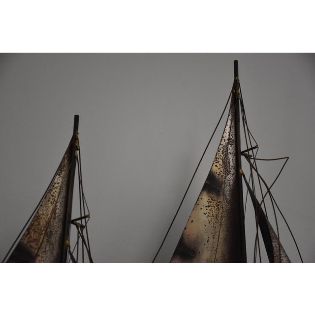Curtis Jere Sailboat Wall Hanging Sculpture For Sale - Image 5 of 11
