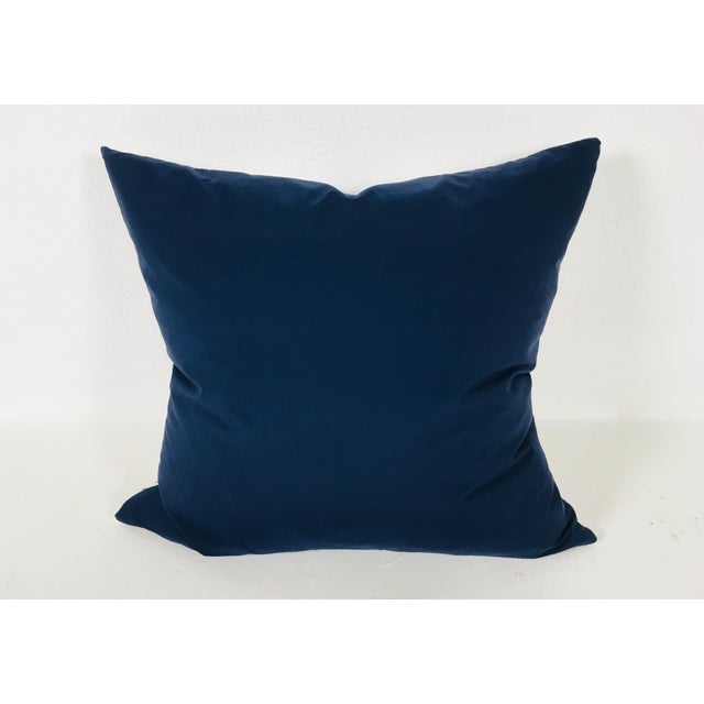2010s Medallion Motif Blue & White Pillows – a Pair For Sale - Image 5 of 9