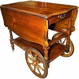 Antique Drop Leaf Table Cart Preview