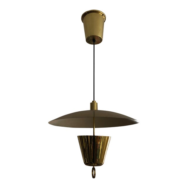 Brass Pendant Adjustable Lamp For Sale