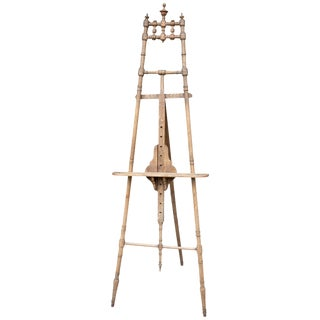 Antique Spindle French Wood Easel