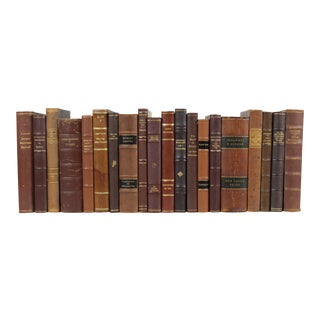 Leather-Bound Books - Set of 20