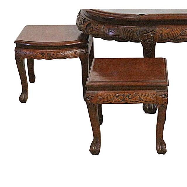 Vintage Chinese Tea Table & Stools - Image 4 of 5