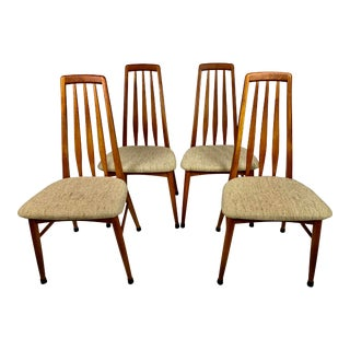 Mid Century Danish Teak Koefoeds Hornslet 'Eva' Chairs- Set of 4 For Sale