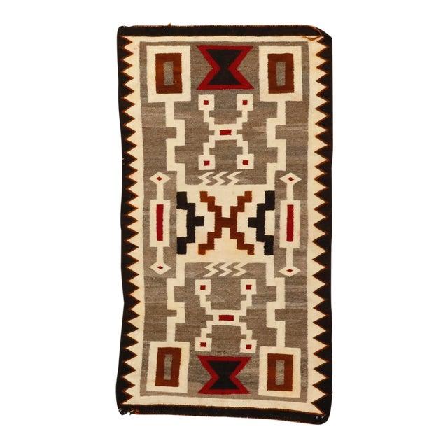 """Vintage Navajo Storm Pattern Rug - 2'8"""" X 4'11"""" For Sale"""