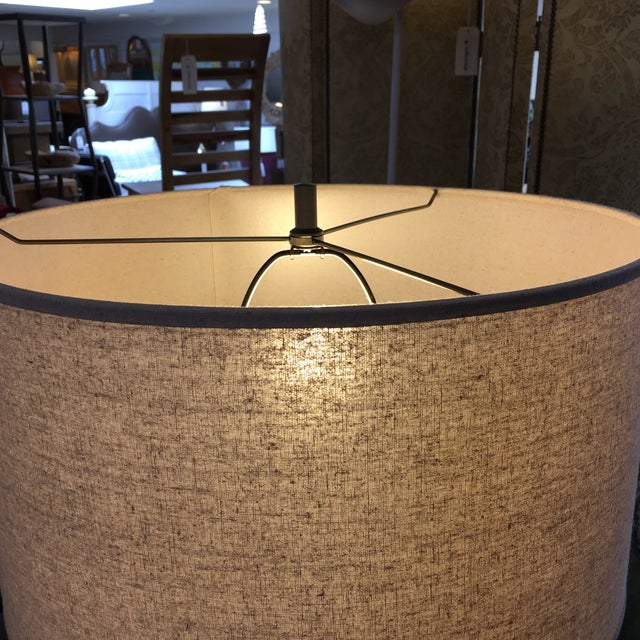 Brass Restoration Hardware Square Column Table Lamp - A Pair For Sale - Image 7 of 7