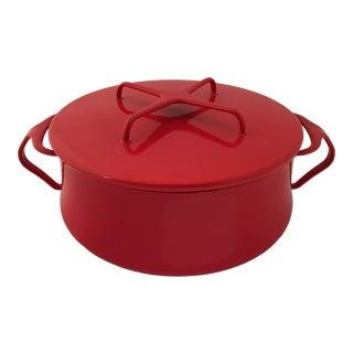 Dansk Designs Red Kobenstyle Dutch Oven Jens Quistgaard For Sale