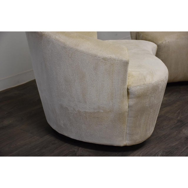 Modern Vladimir Kagan Bilbao Lounge Chairs- a Pair For Sale - Image 3 of 8