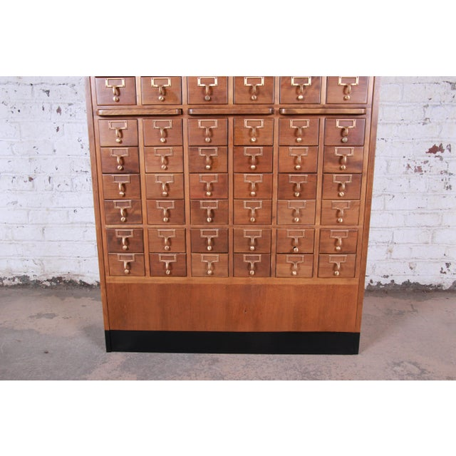 Mid-Century 72-Drawer Library Card Catalog For Sale - Image 4 of 13