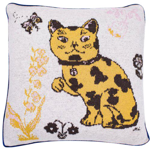 Le Chat Coquin Cashmere Pillow For Sale