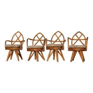 1970s Vintage Bamboo Chairs- Set of 4 For Sale