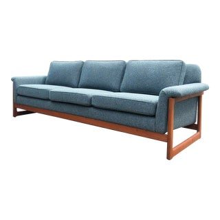 Mid Century Dux Teak Frame Sofa For Sale