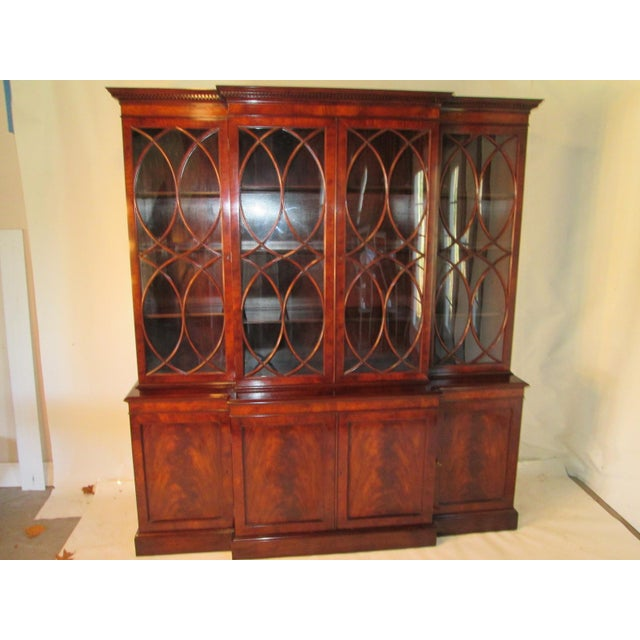 Old Colony Mahogany Breakfront Cabinet For Sale - Image 11 of 11