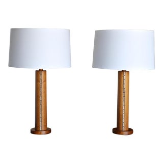 Jane & Gordon Martz Lamps for Marshall Studios Circa 1960 with Shades - a Pair For Sale