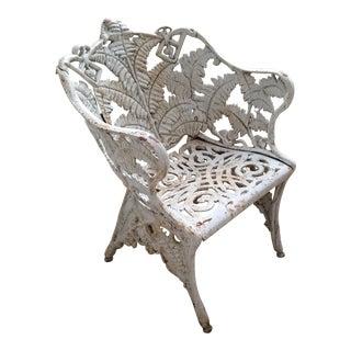 Antique Fern Garden Chair For Sale