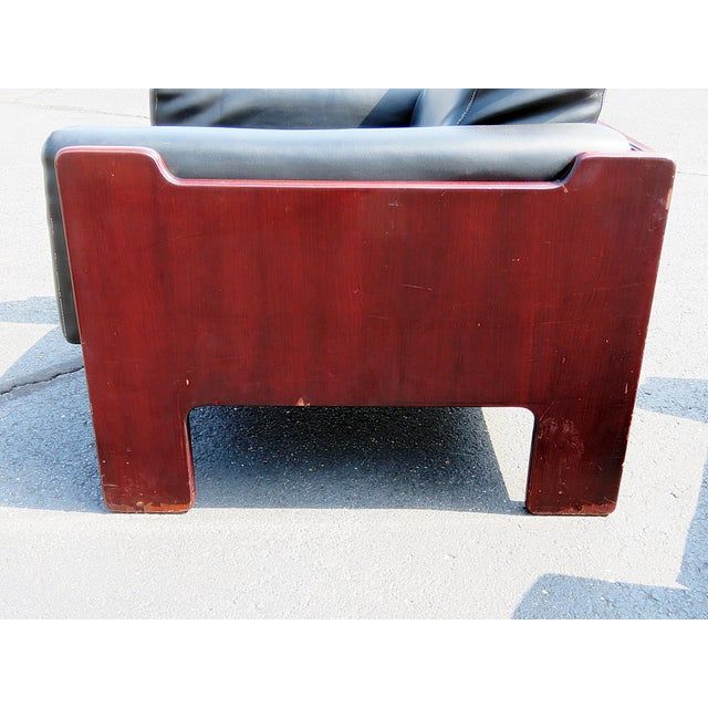 Wood Pair of Mid Century Modern Club Chairs For Sale - Image 7 of 12