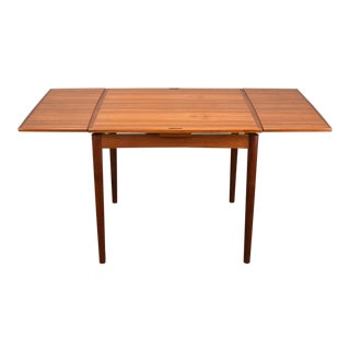 Carlo Jensen Expanding Small Danish Teak Dining Table or Game Table