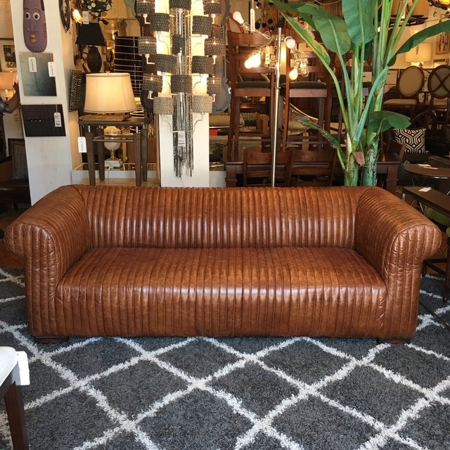 Design Plus Gallery BRAND NEW Artsome Logan sofa. Sit nestled in the lap of luxury with fabulous hand-rubbed leather...