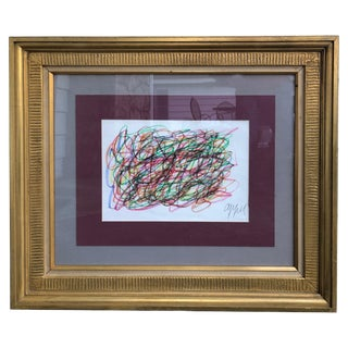 Karel Christiaan Appel Crayon on Paper For Sale