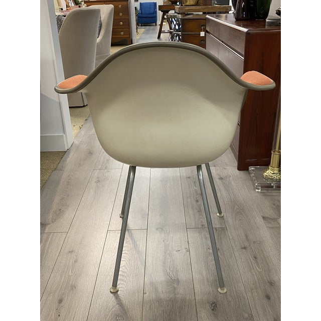 1970s Vintage Herman Miller Chairs Upholstered Fiberglass Chairs Signed For Sale - Image 5 of 10