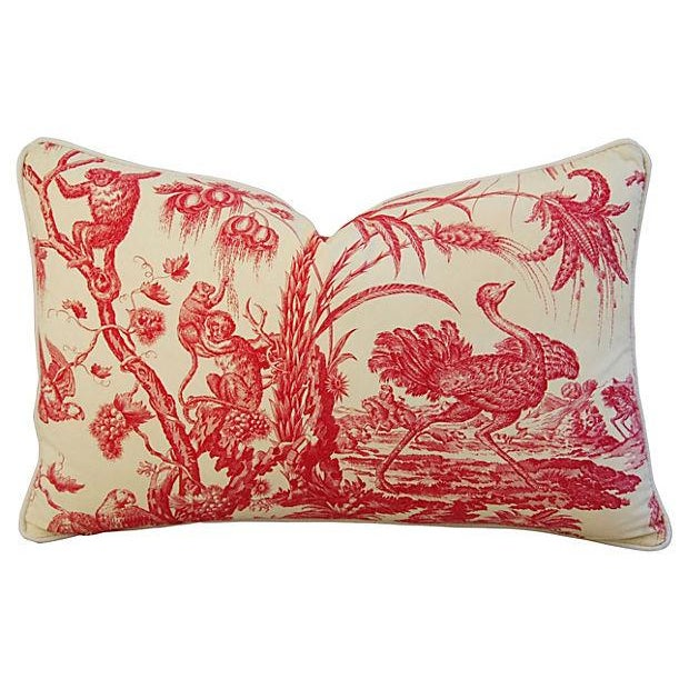 Marius Boudin French Toile & Linen Pillow - Image 1 of 6