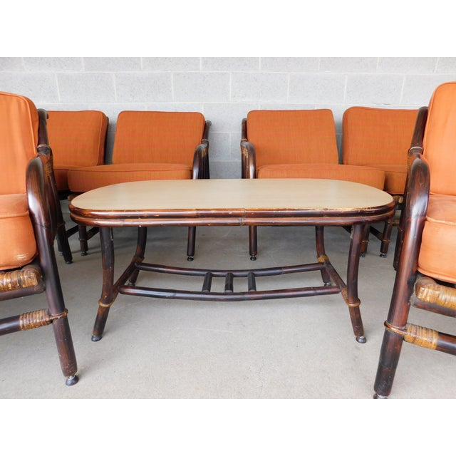 Ficks Reed Vintage Mid Century Rattan 11pc Patio Set For Sale - Image 11 of 13