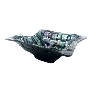 Tony Evans Woven Art Glass Decorative Bowl For Sale